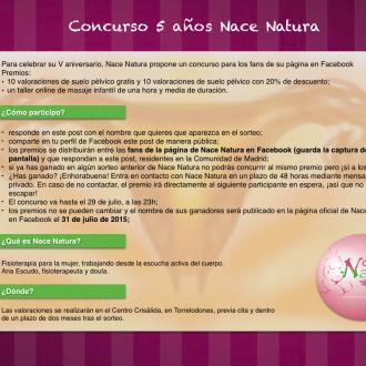 Concurso 5 años Nace Natura